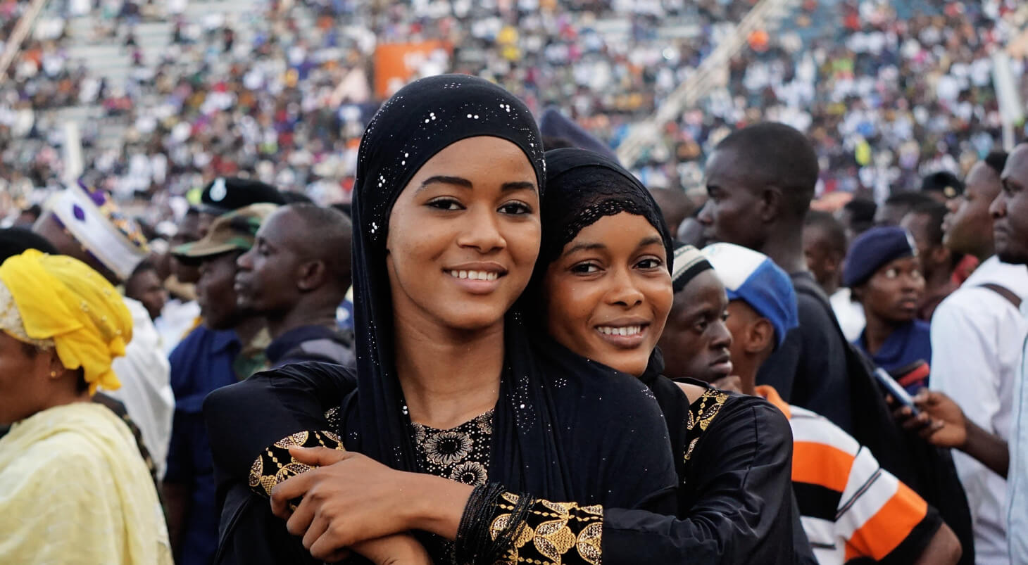 African women dressed in Hijabs.